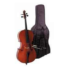 CELLO 1/2 SCALE +KILIF+YAY, KARARTILMIŞ AKÇAAĞAÇ BU
