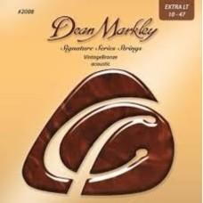 Dean Markley 2008 (10-47) - Bronze Extra Light Akustik Gitar Tel Seti