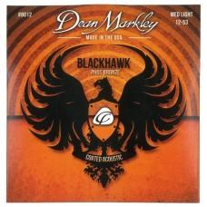 Dean Markley Blackhawk 8012 Kaplamalı 12-53 Medium Light Akustik Gitar Takım Tel